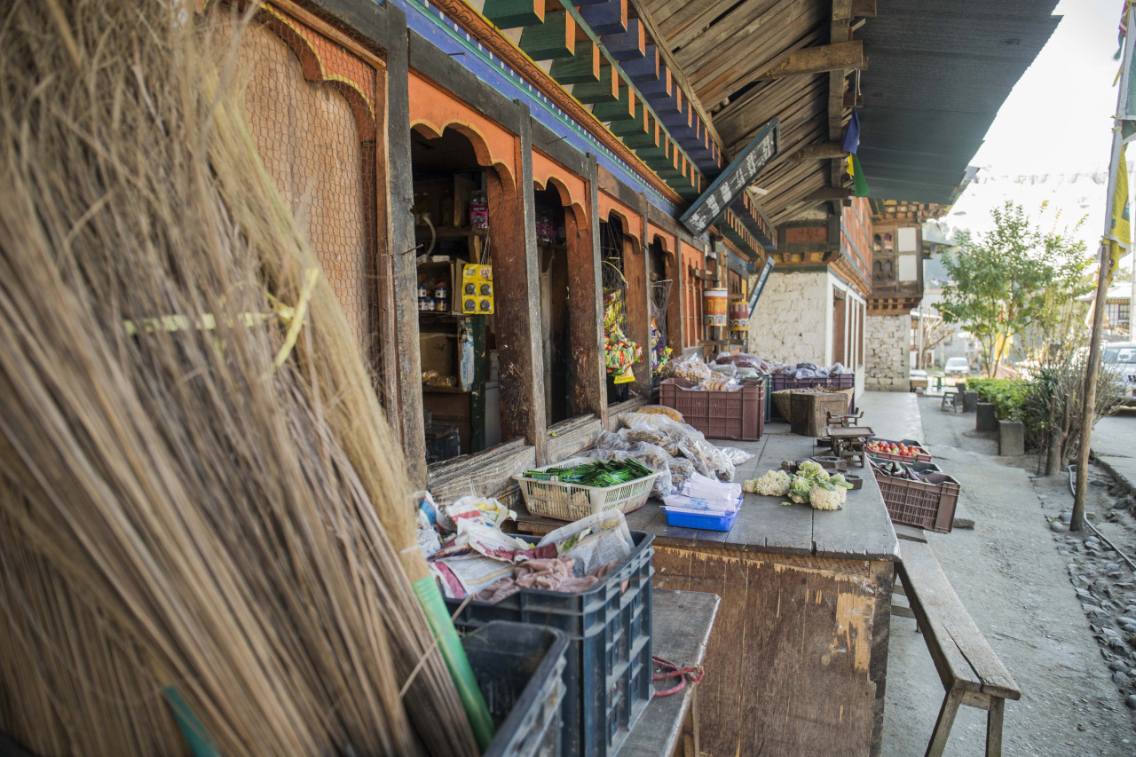 Typical shop in Bhutan