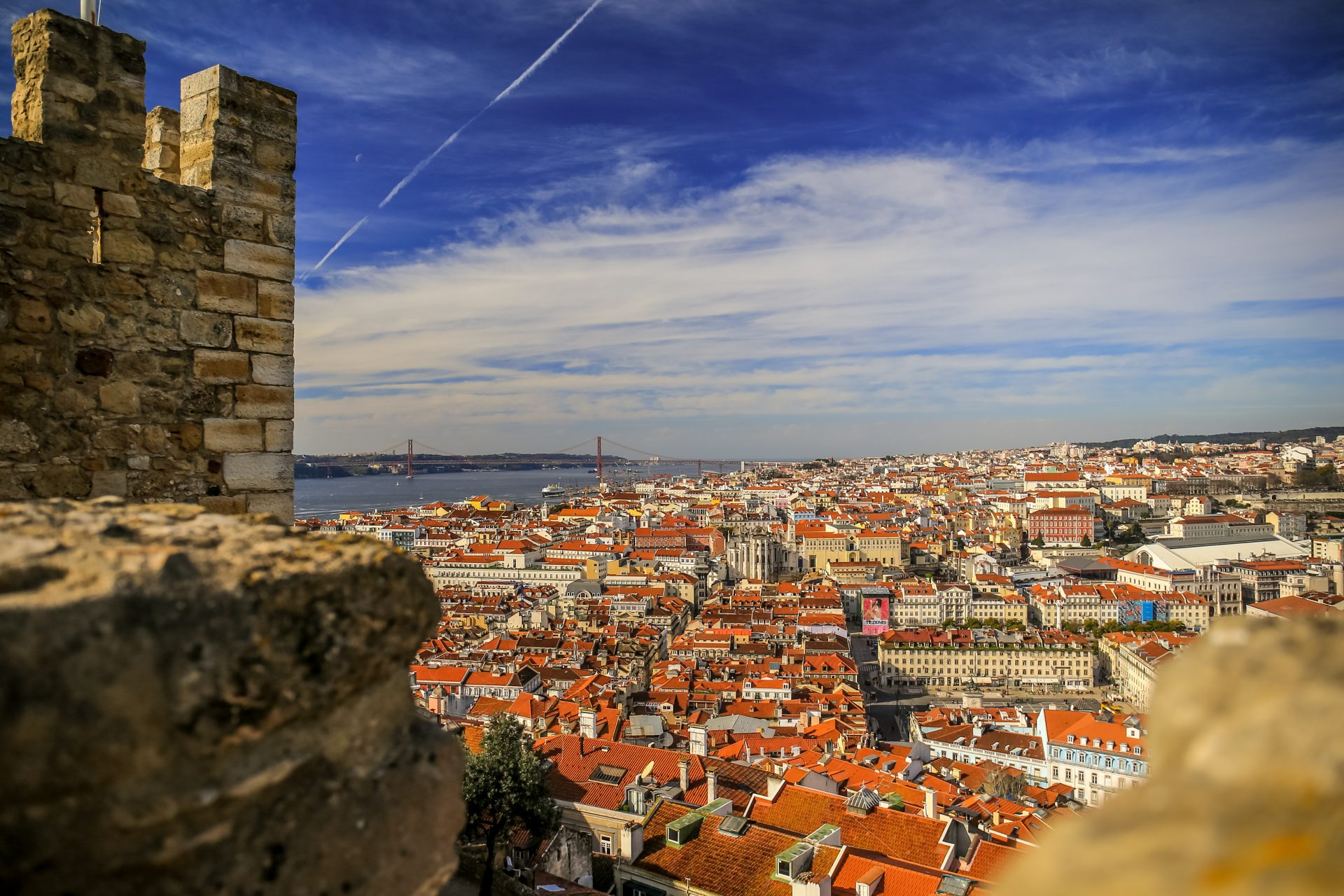 Panorama of Lisbon from Saint George Castle