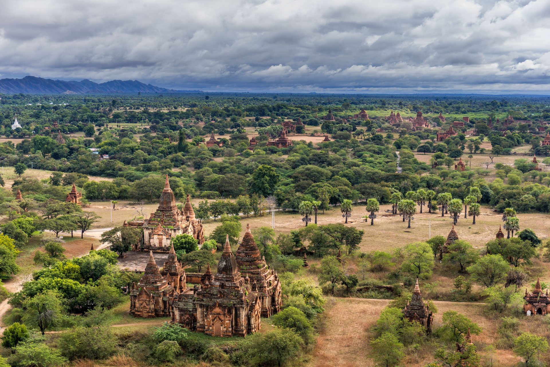 A glimpse of Sun over Bagan